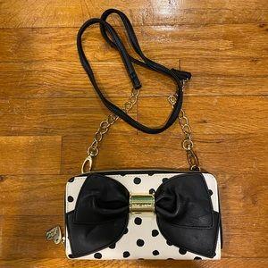 Betsey Johnson cross body bag/clutch